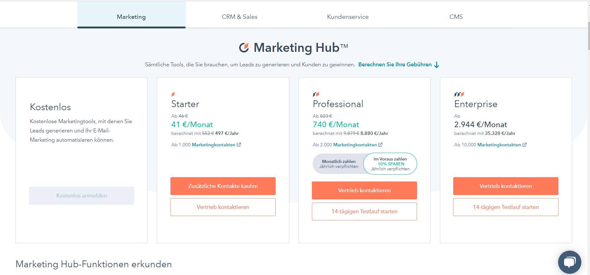 Hubspot_Preise Marketing