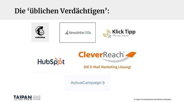 Email Marketing Software Anbieter