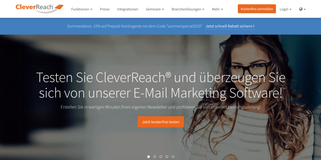 CleverReach Homepage