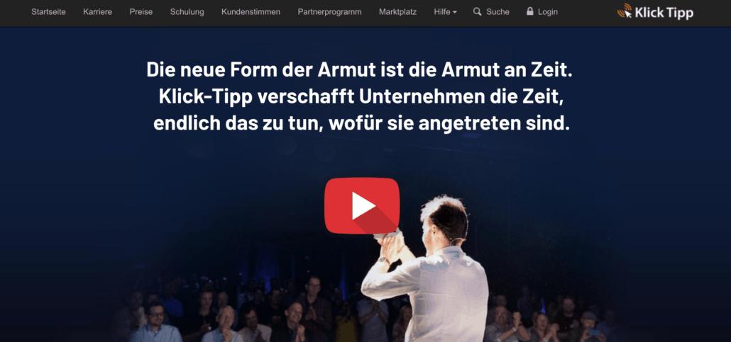 Klick-Tipp Homepage - Newsletter Deutschland
