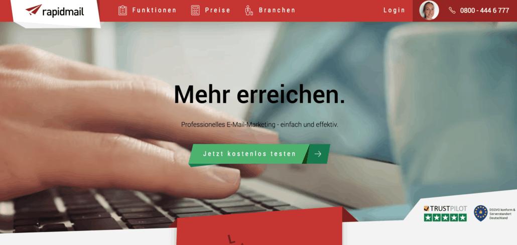 Rapidmail Homepage