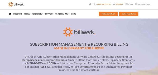 billwerk Subscription Management