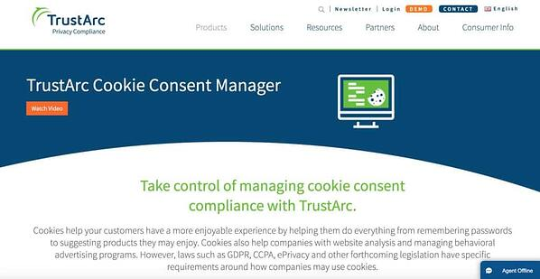 TrustArc Cookie Consent Manager Service