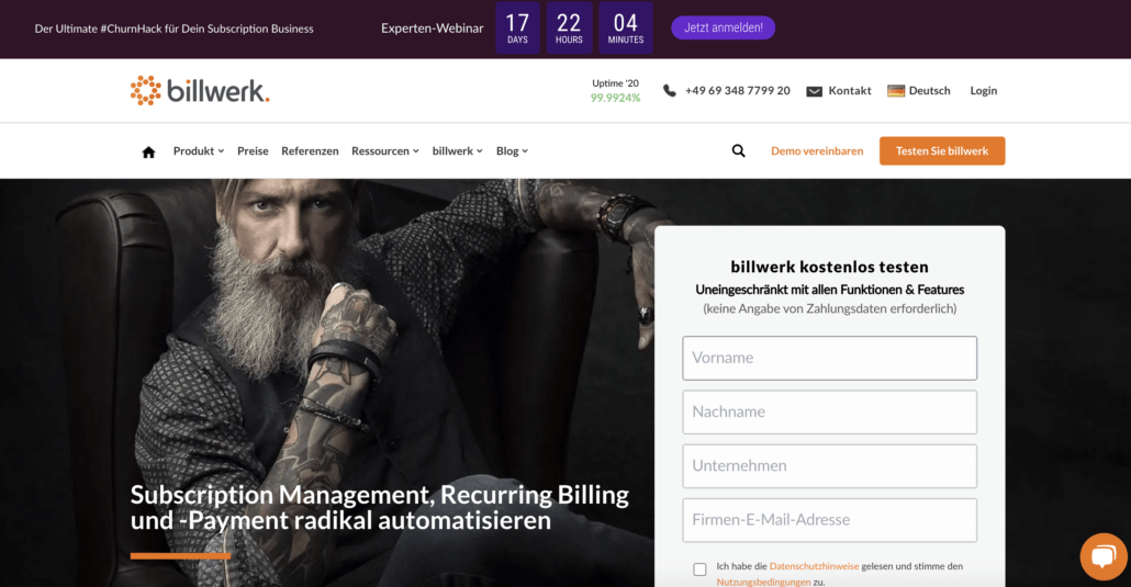 billwerk - Subscription Management Lösung aus Deutschland