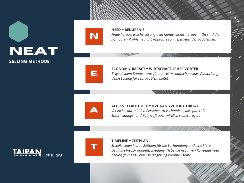 NEAT Selling Methode_Taipan Consulting
